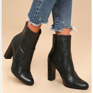 Steve Madden black leather editor ankle boot - 10